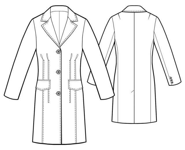 Vest Patterns To Sew Long Jacket Sewing Pattern 5455 Made To Measure Sewing Pattern