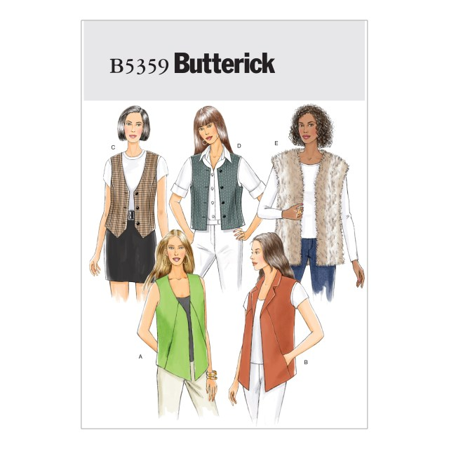Vest Sewing Pattern Butterick Misses Vest Sewing Pattern 373421 Create And Craft