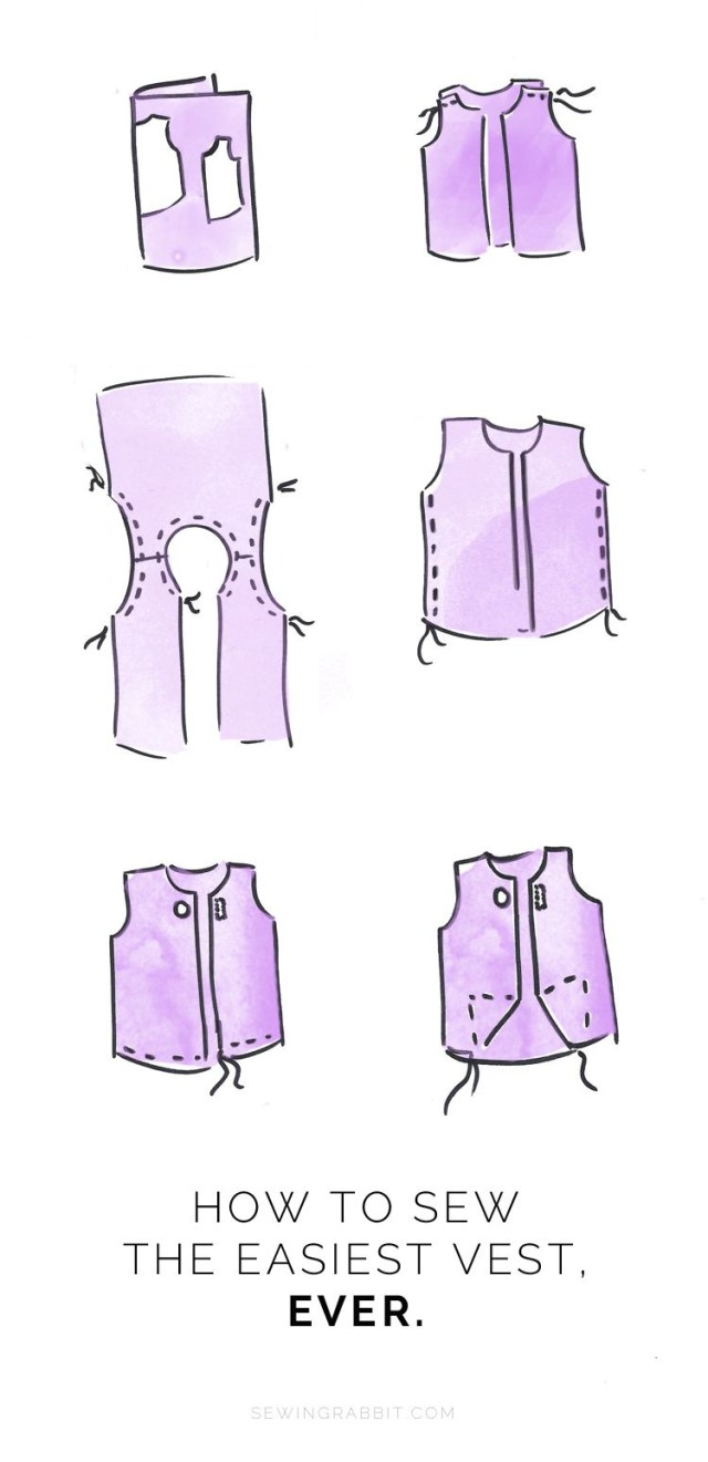 Vest Sewing Pattern Easy Womens Vest Sewing Diy Clothes Pinterest Sewing Sewing