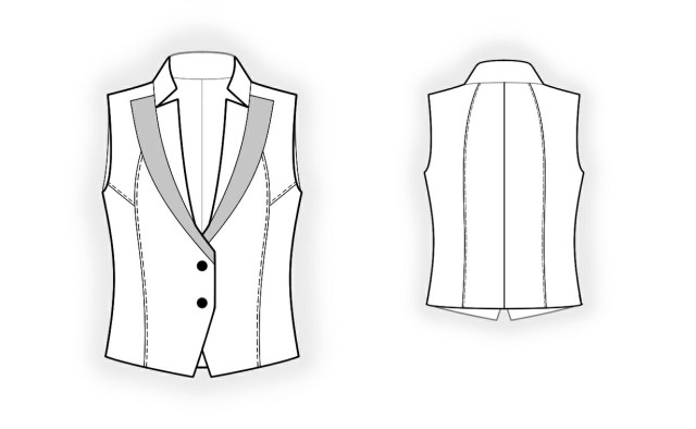 Vest Sewing Pattern Waistcoat Sewing Pattern 4091 Made To Measure Sewing Pattern