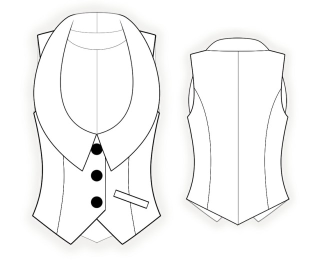 Vest Sewing Pattern Waistcoat Sewing Pattern 4339 Made To Measure Sewing Pattern
