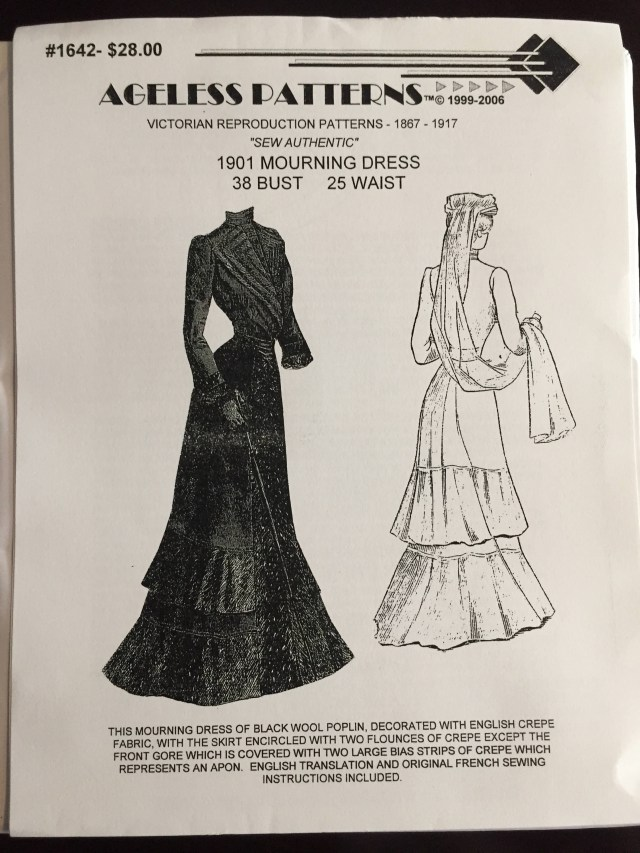 Victorian Sewing Patterns Ap1642 Victorian Sewing Pattern Ladies 1901 Mourning Dress Etsy