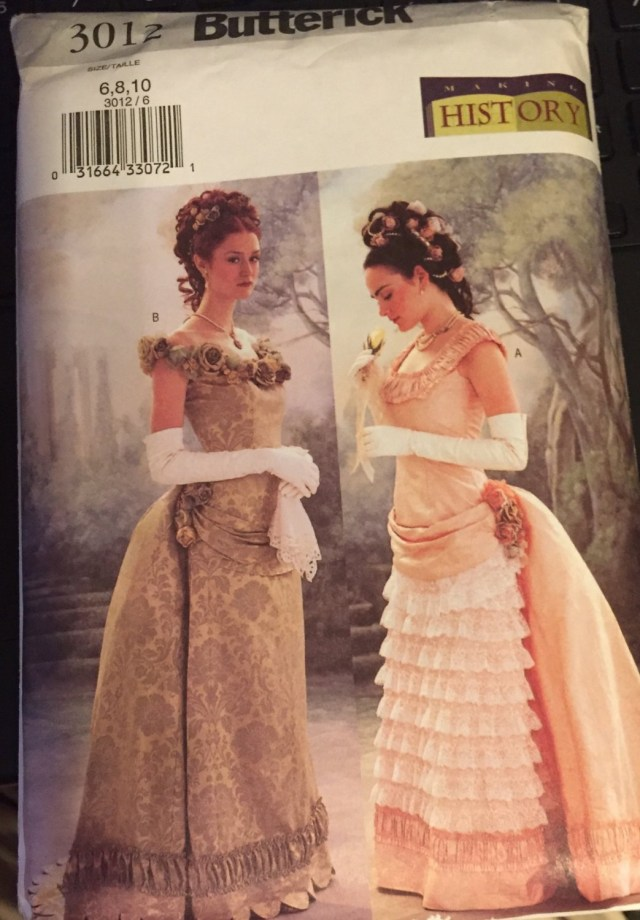 Victorian Sewing Patterns Butterick 3012 Victorian Edwardian Dress With Bustle Theatrical