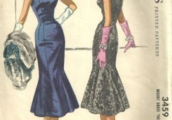 Vintage Sewing Patterns Mccalls 3459 Vintage 50s Sewing Pattern Dress Size 16 2250 Via