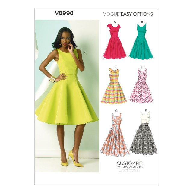 Vogue Sewing Patterns V8998 Vogue Patterns Misses Dress 380371 Create And Craft