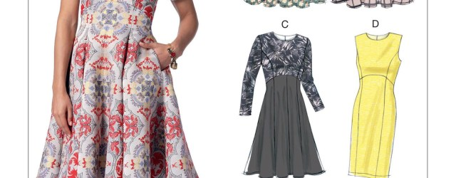 Vogue Sewing Patterns V9202 Misses Dresses With Flared Or Straight Skirt Options Sewing