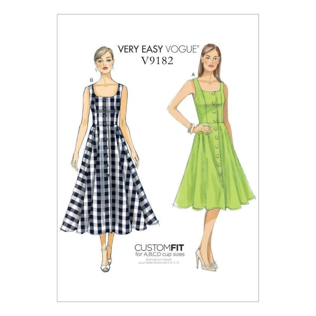 Vogue Sewing Patterns Vogue Sewing Pattern Misses Very Easy Vogue Dress Size 6 22 V9182
