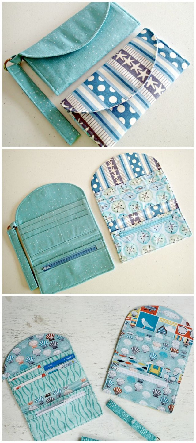Wallet Sewing Pattern Learn How To Sew Wallets 3 Patterns Included And The Video