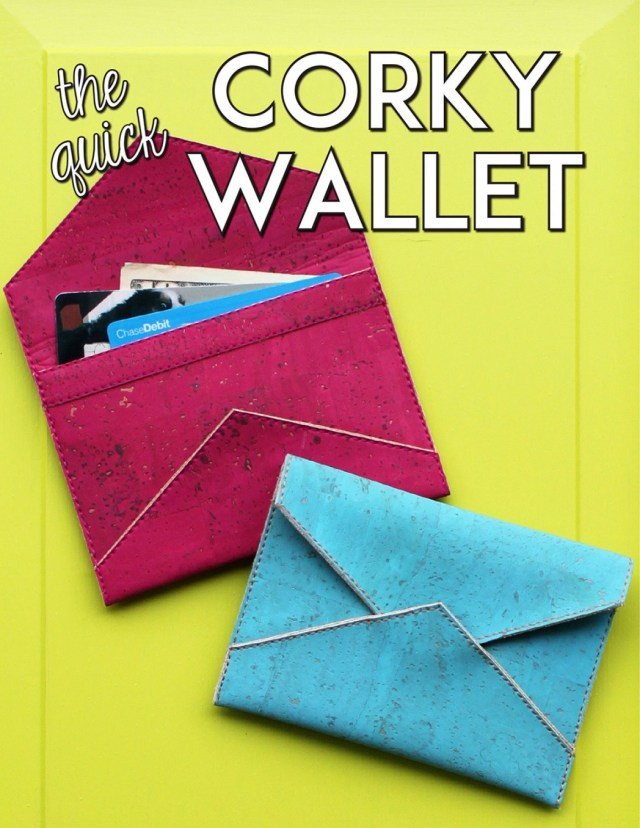 Wallet Sewing Pattern The Quick Corky Wallet Sewing Pattern From Sassafras Lane Designs
