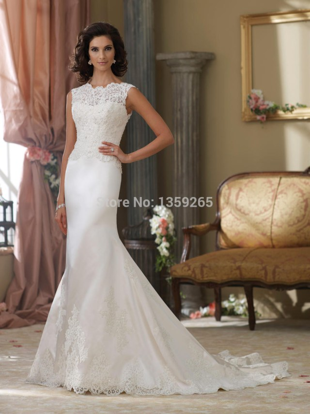 Wedding Dress Sewing Pattern New Arrival 2014 Wedding Dress Sewing Patterns Mermaid Lace Open