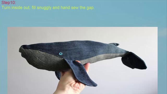Whale Pattern To Sew How To Make Denim Diy Whale Diy Hgchannel Youtube