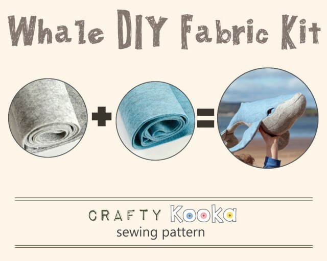 Whale Pattern To Sew Whale Stuffed Toy Diy Fabric Kit Whale Sewing Pattern And