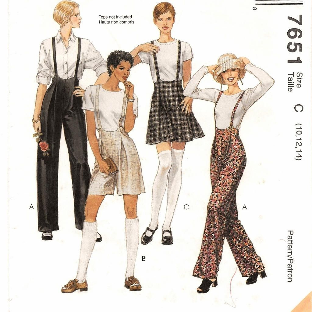 Womens Romper Sewing Pattern A Jumpsuit Style Suspender Pants Shortsromper And Skirt Sewing