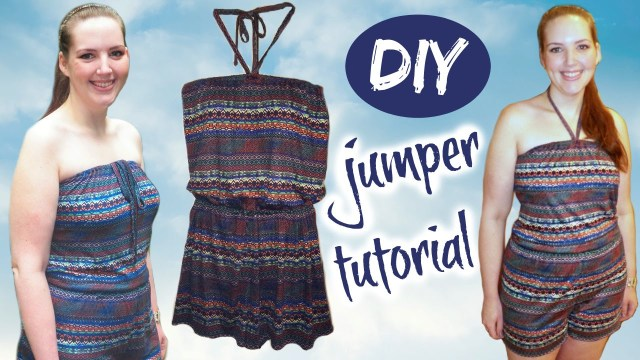 Womens Romper Sewing Pattern Diy Romper Strapless Or Halter Summer Fashion Sewing Tutorial