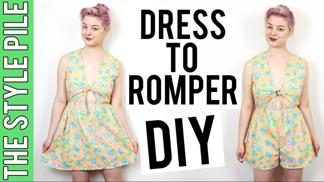 Womens Romper Sewing Pattern Dress To Romper Diy The Style Pile 12 Youtube