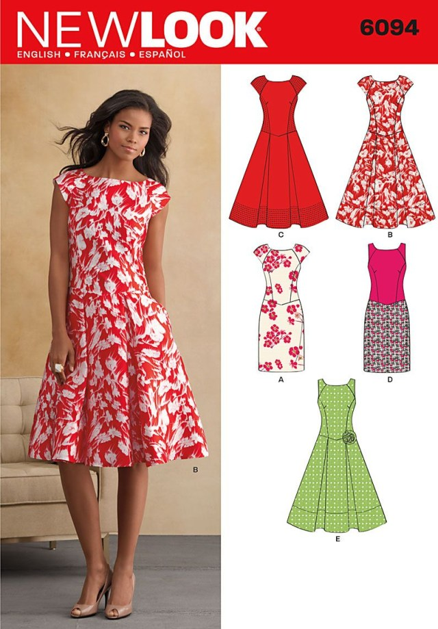 Womens Sewing Patterns Free Beginner Sewing Patterns Patterns New Look Dresses 6094
