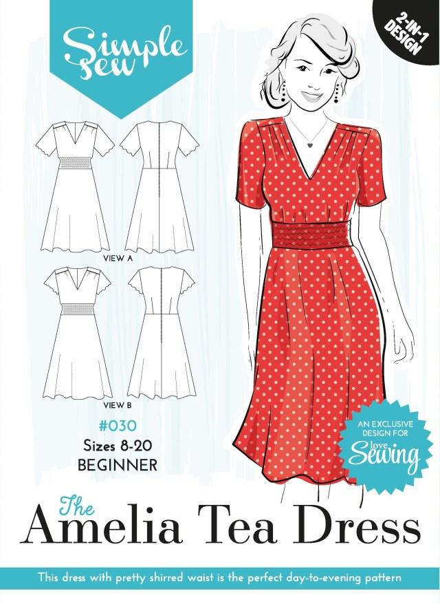 Womens Sewing Patterns Free Pattern 30 Amelia Tea Dress Envelope Ol Sewing For Woman