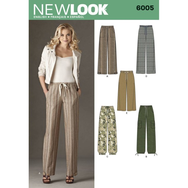 Womens Sewing Patterns New Look Womens Trousers Sewing Pattern 6005 Hobcraft