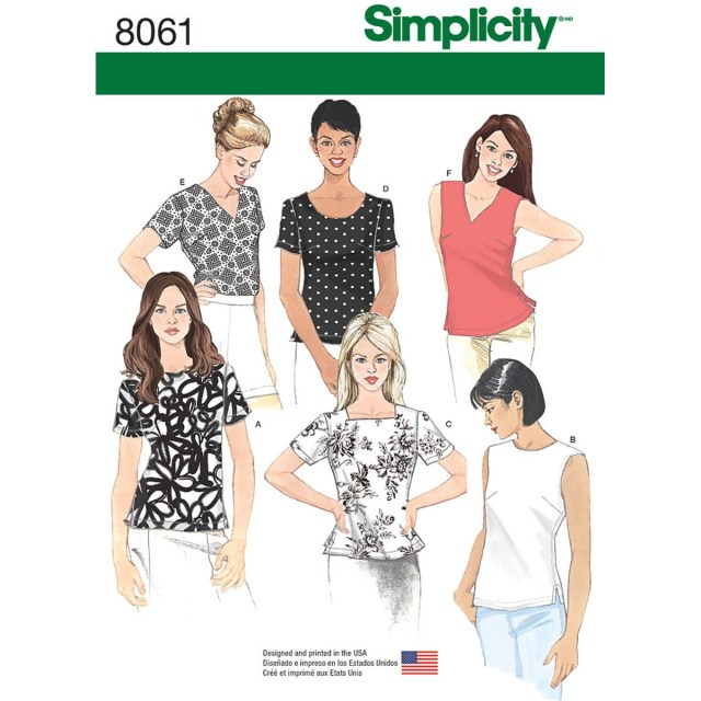 Womens Sewing Patterns Simplicity Womens Tops Sizes 16 To 24 Sewing Pattern 8061 Hobcraft
