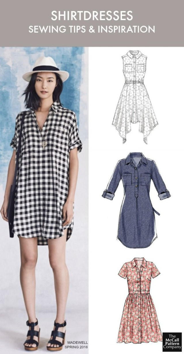 Womens Sewing Patterns The Dress Style You Need To Sew Now Plus Tips Shirtdress