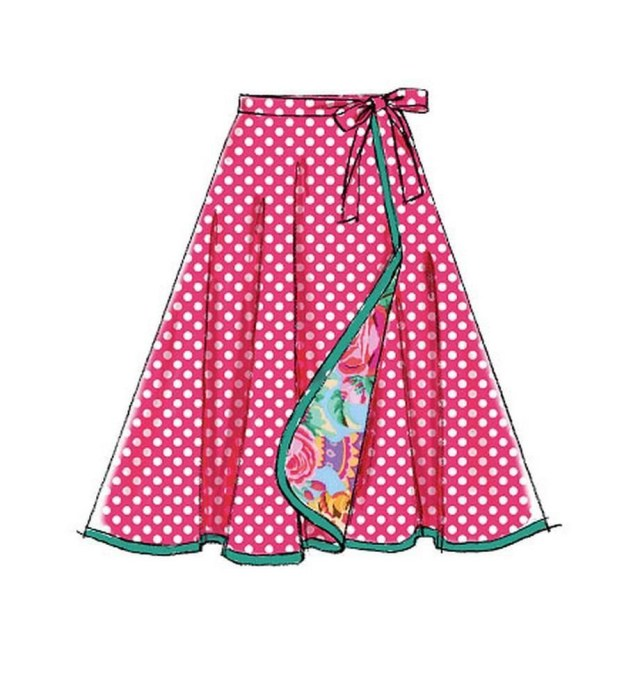 Wrap Skirt Sewing Pattern Mccall S Sewing Pattern Misses Learn To Sew Wrap Skirts Size 8 24