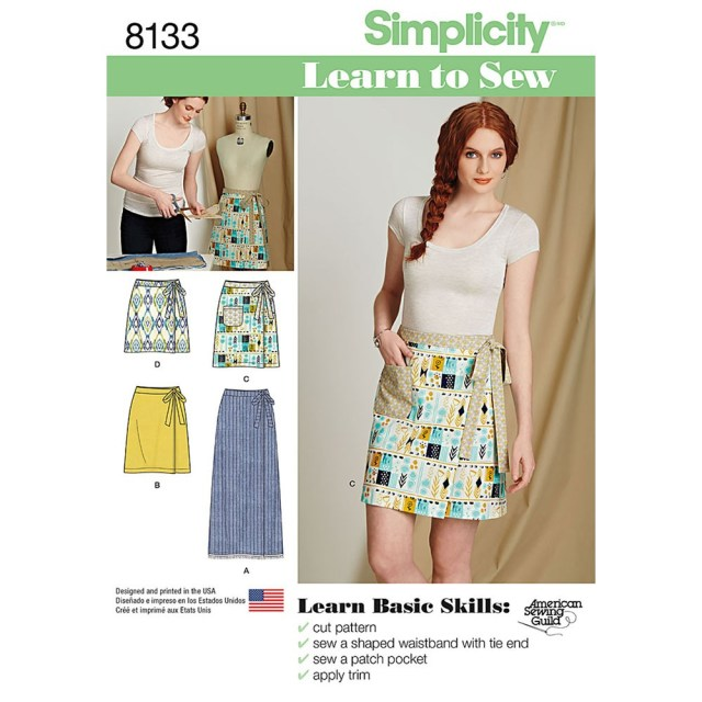 Wrap Skirt Sewing Pattern Misses Learn To Sew Wrap Skirts Simplicity Sewing Pattern 8133 Sew