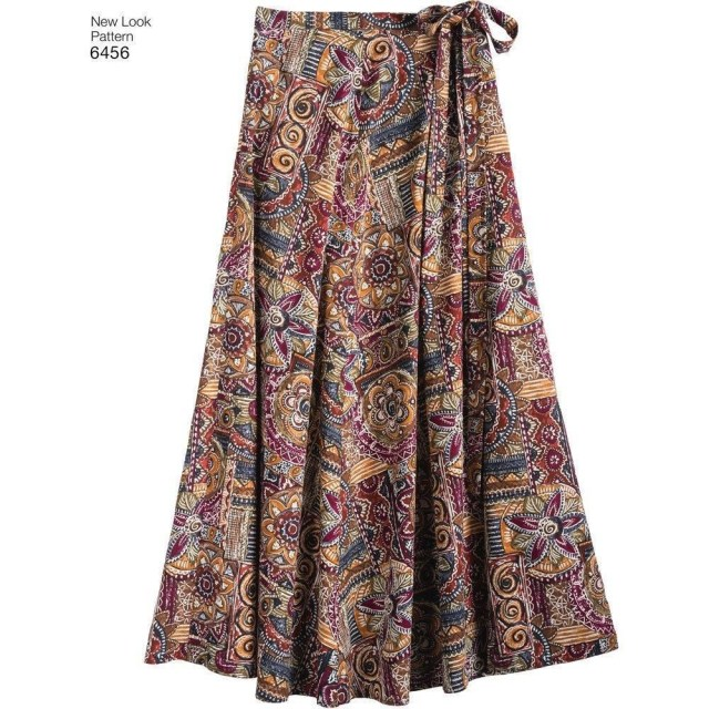 Wrap Skirt Sewing Pattern New Look Sewing Pattern Misses Easy Wrap Skirts In 4 Lengths Size 6