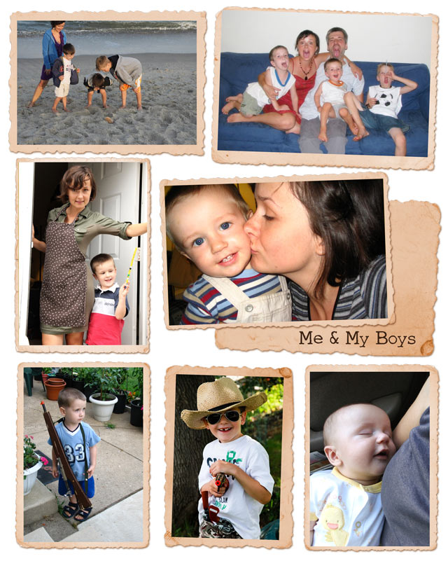 Mom collage 1 - my boys and me