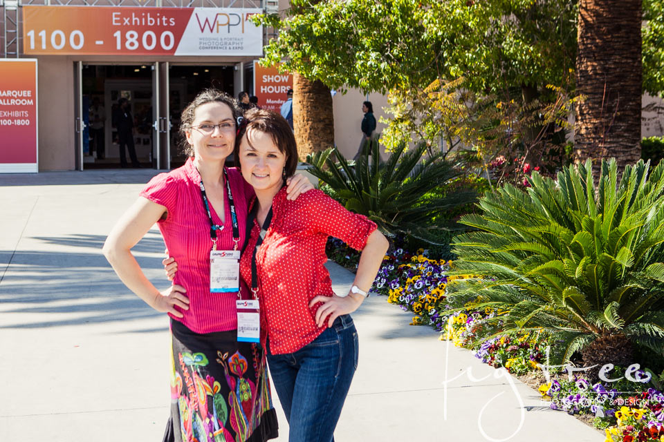 Patricia (that's me) and Ania at WPPI 2014 in Las Vegas