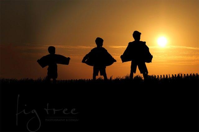 Boys-sunset