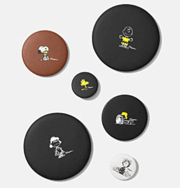 Coach X Peanuts leather pin set
