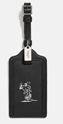 Coach X Peanuts luggage tag-snoopy