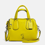 Coach X Peanuts mini surrey satche-yellow