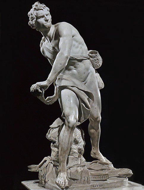 The inspiration for my first ever pose: Bernini's David.