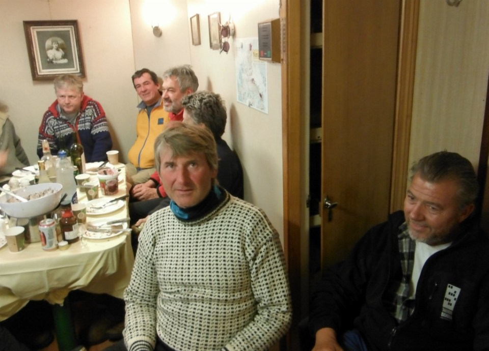 Tandberg Polar gathering. Captain in smart sweater.