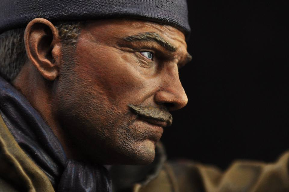Painting 1/9 scale bust facial skintone with Keigo Murakami