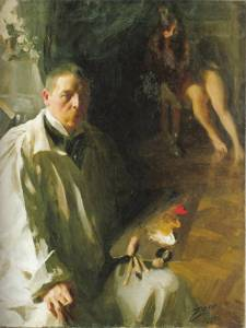 A self-portrait by Anders Zorn revealing his limited palette.
