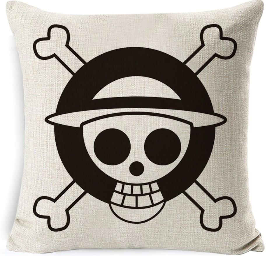 acheter taie d oreiller one piece drapeau pirate luffy mugiwara