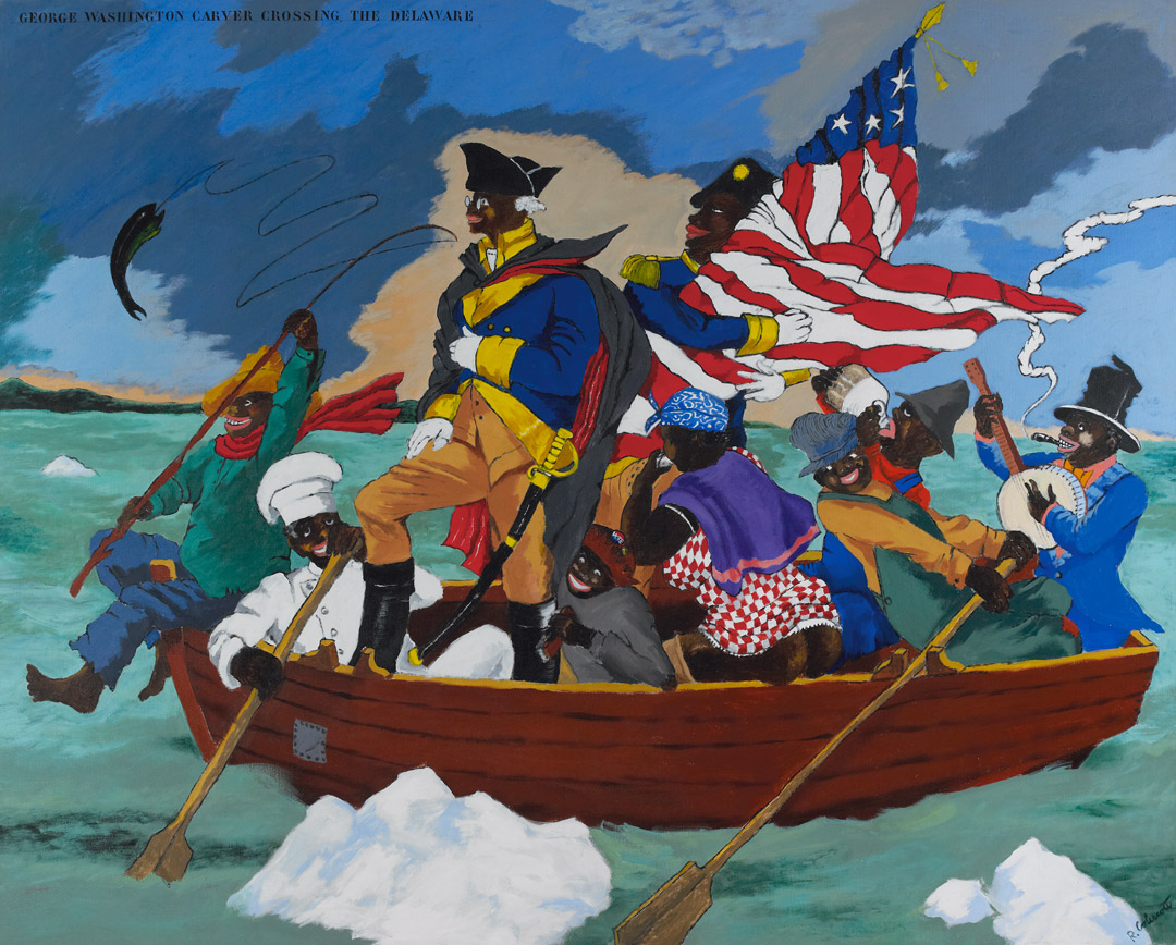 George Washington Carver Crossing The Delaware Page From