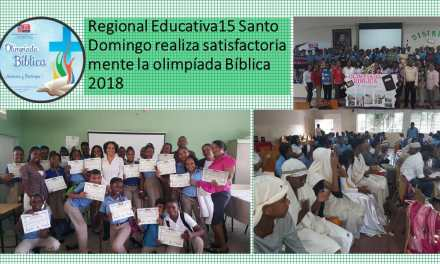 Olimpíada Bíblica celebrada en la Regional Educativa 15, Santo Domingo.