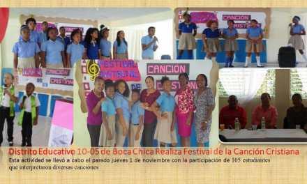 Distrito Educativo 10-05 realiza Festival de la Canción Cristiana