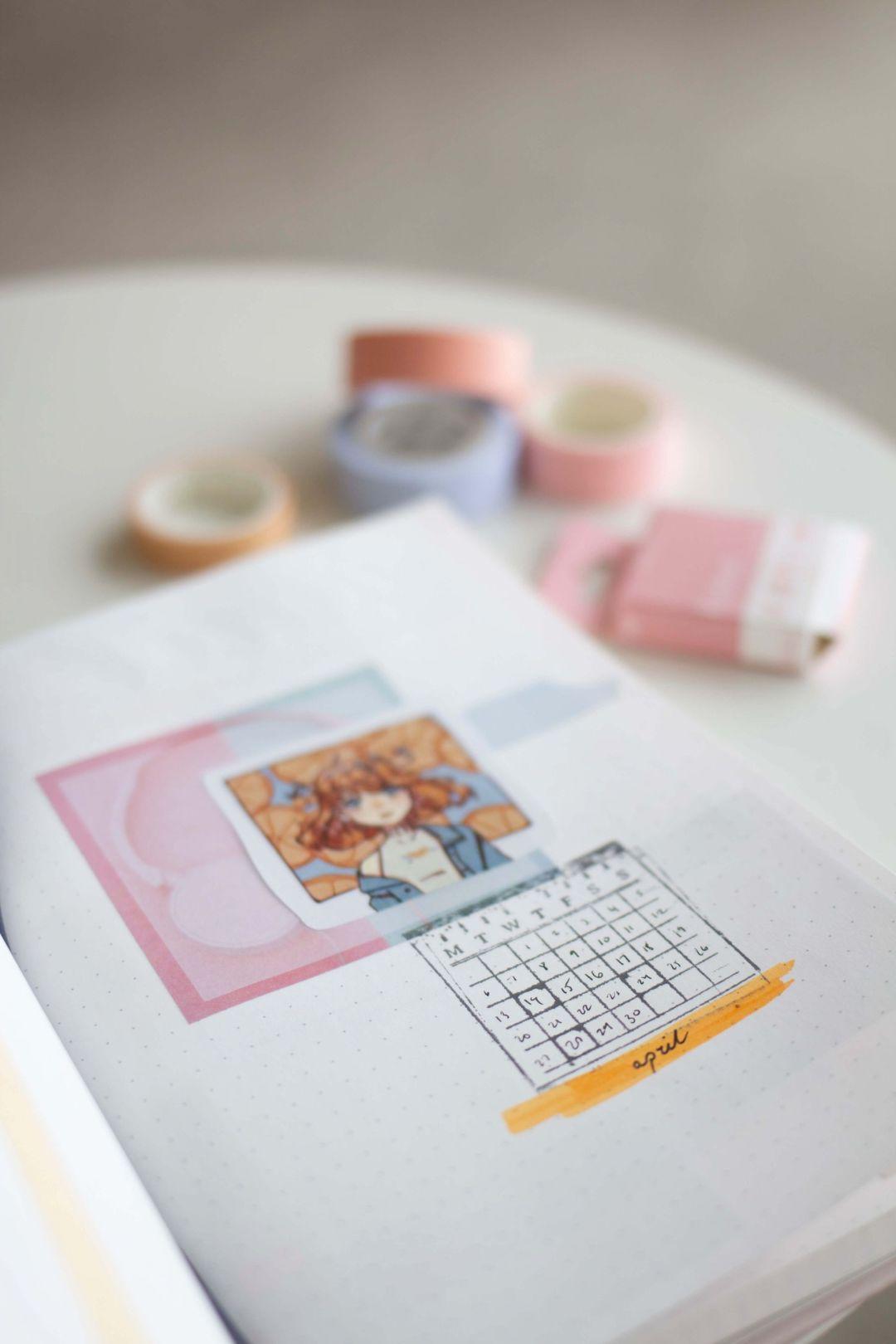 bullet journal april colour ideas