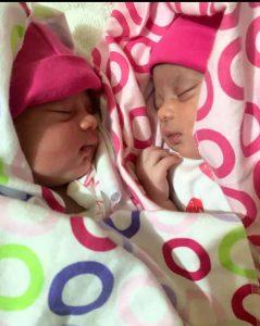 Late Zoe Avadoo Imbul with her twin sister Chole Imbul