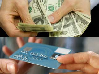 Cash against Credit Card