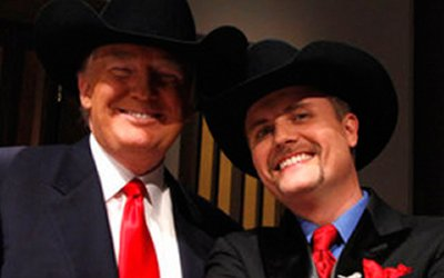 Image result for trump wearing cowboy hat