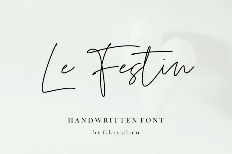 Le Festin- Handwritten Script Font