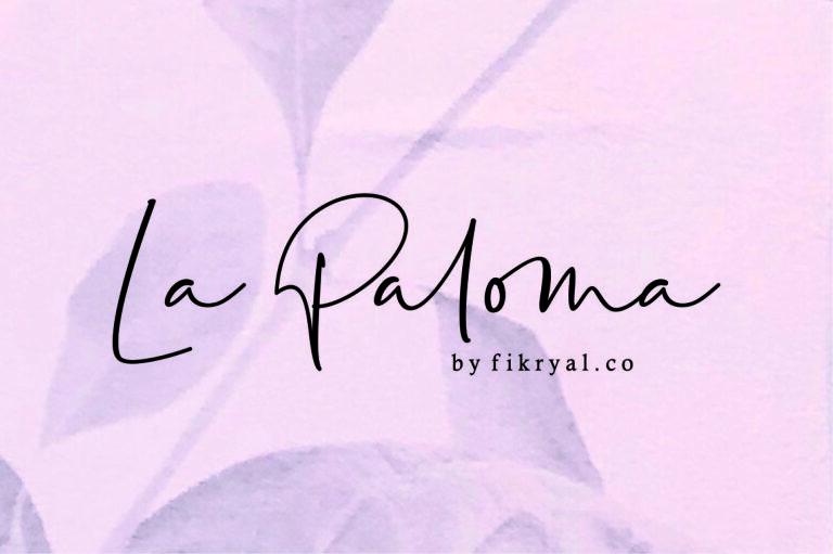 La Paloma - Handwritten Script Font