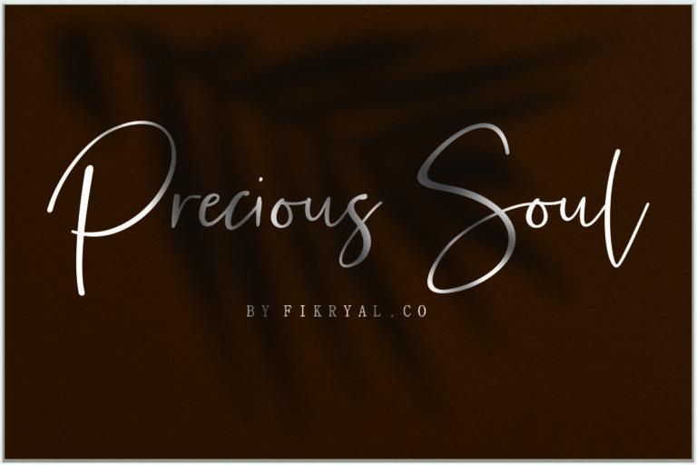 Preview image of Precious Soul – Handwritten Script Font