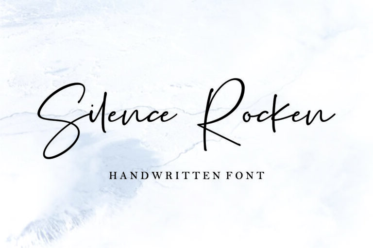 Preview image of Silence Rocken – Handwritten Script Font
