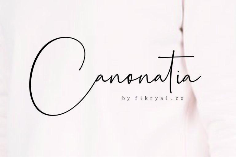 Preview image of Canonatia – Handwritten Script Font